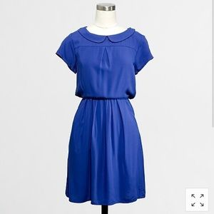J. Crew• sapphire blue peter pan collar dress